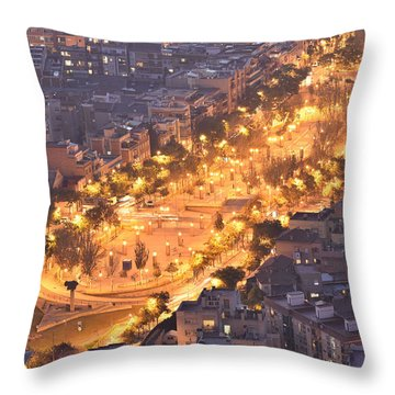 Rambla Del Carmel Barcelona Throw Pillow by Marek Stepan