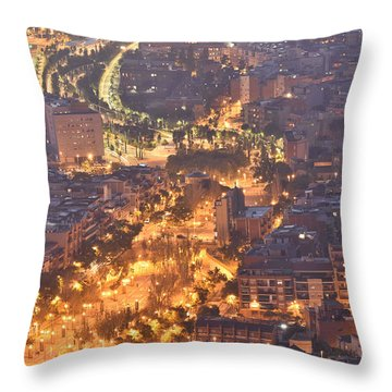 Rambla Del Carmel Barcelona Spain Throw Pillow by Marek Stepan