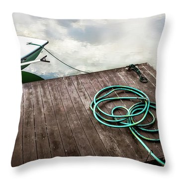 Throw Pillow featuring the photograph Ramble On - Boat Art by Jo Ann Tomaselli