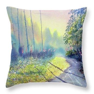 Rambling Amidst The Rosebay Throw Pillow
