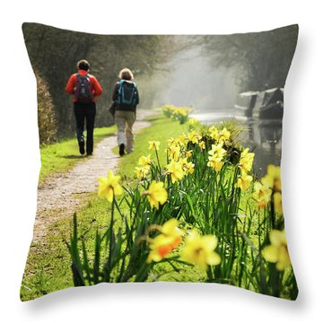 Rambling On Throw Pillow