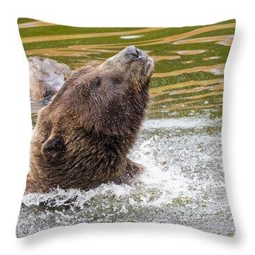 Rambo Bear Throw Pillow