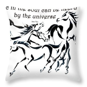Throw Pillow featuring the painting Rambunctious With Lao Tzu Quote I by Bill Searle