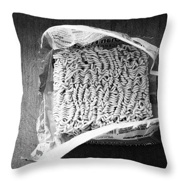 Ramen- Black And White Photography By Linda Woods Throw Pillow