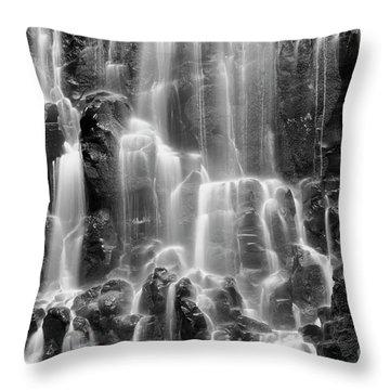 Ramona Falls Close-up Throw Pillow