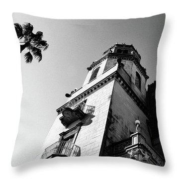 California Castle Throw Pillow