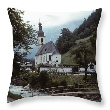 Ramsau Church Throw Pillow