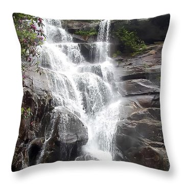Ramsay Cascade Smoky Mountains National Park Throw Pillow