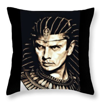 Ramses II Throw Pillow by Fred Larucci