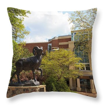 Ramses The Bighorn Ram Sculpture Throw Pillow