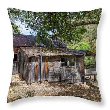 Ramsey Canyon Cabin Throw Pillow