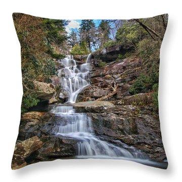 Ramsey Cascades - Tennessee Waterfall Throw Pillow