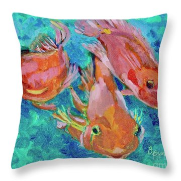 Ramshead Goldfish Throw Pillow