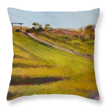 Ranch Entrance Throw Pillow