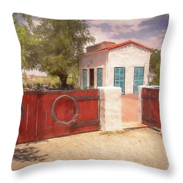 Ranch Family Homestead Throw Pillow