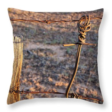 The Old Ranch Fence Throw Pillow