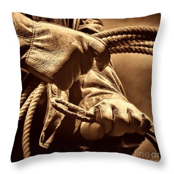 Ranch Hands Throw Pillow by American West Legend By Olivier Le Queinec