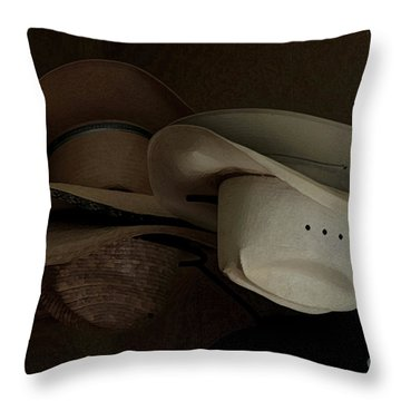 Ranch Hats Throw Pillow