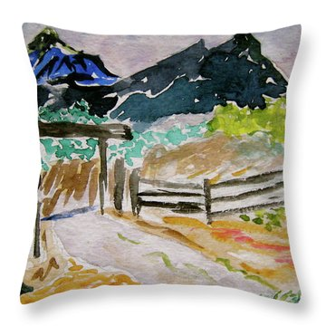 Ranch Outside Salida Throw Pillow