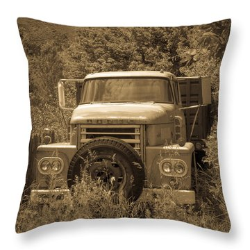 Ranch Truck Throw Pillow