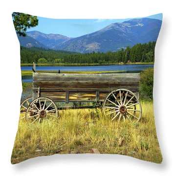 Ranch Wagon 3 Throw Pillow by Marty Koch