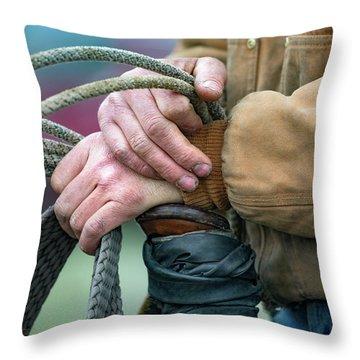 Working Hands Throw Pillows