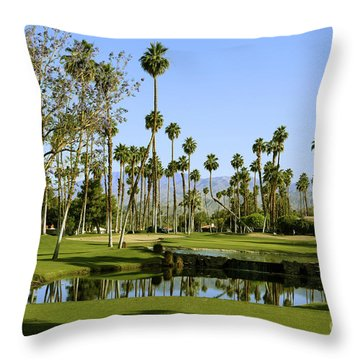 Rancho Mirage Golf Course Throw Pillow by Nina Prommer