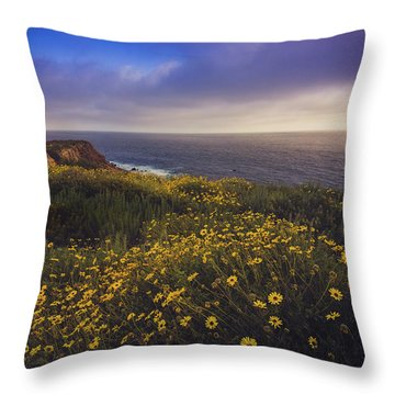 Rancho Palos Verdes Super Bloom Throw Pillow