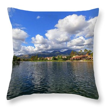 Rancho Santa Margarita Lake Throw Pillow