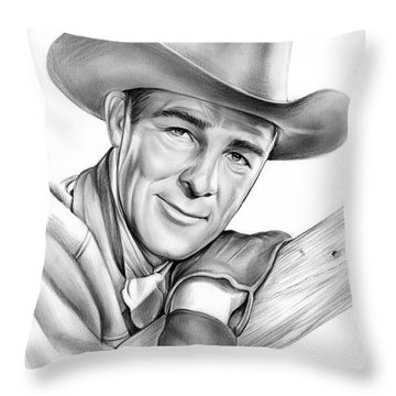 Randolph Scott Throw Pillow