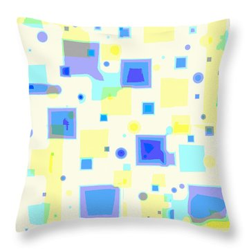 Random Blips Throw Pillow