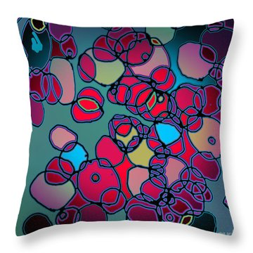 Random Cells  Throw Pillow by Andy  Mercer