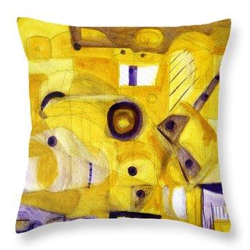 Random Landscape Throw Pillow