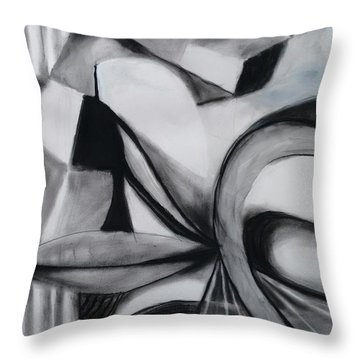 Random Shapes Throw Pillow