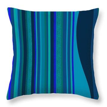 Random Stripes - Electric Blue Throw Pillow