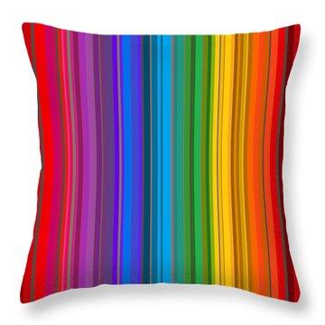 Random Stripes - Rainbow Stripe Throw Pillow
