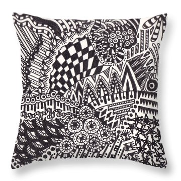 Random V Throw Pillow