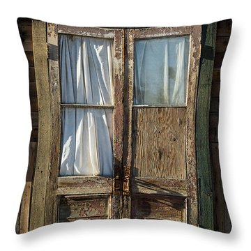 Randsburg Door No. 1 Throw Pillow