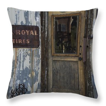 Randsburg Door No. 2 Throw Pillow