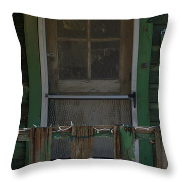 Randsburg Door No. 3 Throw Pillow