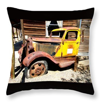 Randsburg Truck 1 Throw Pillow