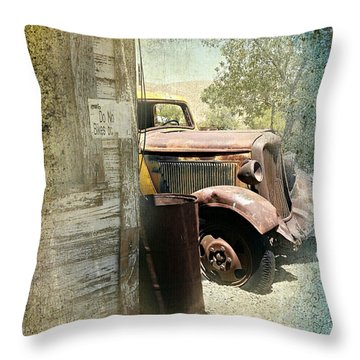 Randsburg Truck 3 Throw Pillow