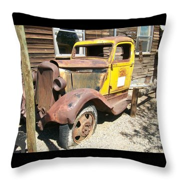 Randsburg Truck  Throw Pillow