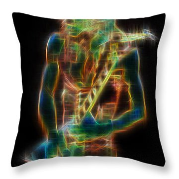 Throw Pillow featuring the digital art Randy by Kenneth Armand Johnson