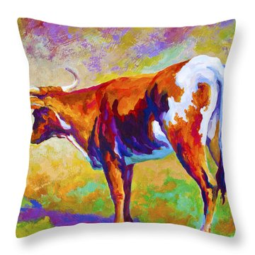 Range Rover II - Texas Longhorn Throw Pillow