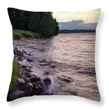 Rangeley Lake State Park In Rangeley Maine  -53215-53218 Throw Pillow