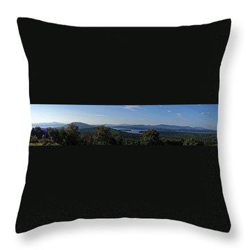 Rangeley Lake Sunset Panoramic Throw Pillow