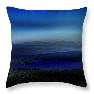 Rangeley Magic Sunset Throw Pillow
