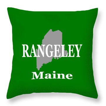 Throw Pillow featuring the photograph Rangeley Maine State City And Town Pride  by Keith Webber Jr