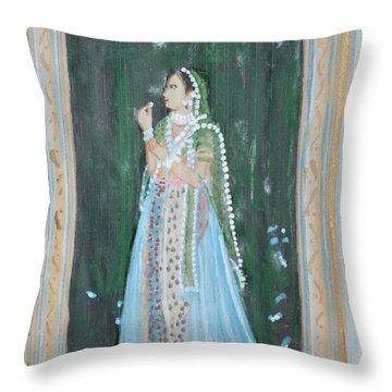 Rani Waiting For Her Raja Throw Pillow